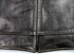 Aero Premier Highwayman, size 44, Blackened Brown Vicenza Horsehide
