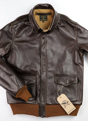 Aero A-2 Military Flight Jacket, size 38, Dark Seal Vicenza Horsehide