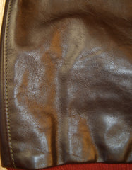 Aero A-2 Military Flight Jacket, size 44, Dark Seal Vicenza Horsehide