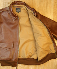 Aero A-2 Military Flight Jacket, size 44, Russet Vicenza Horsehide