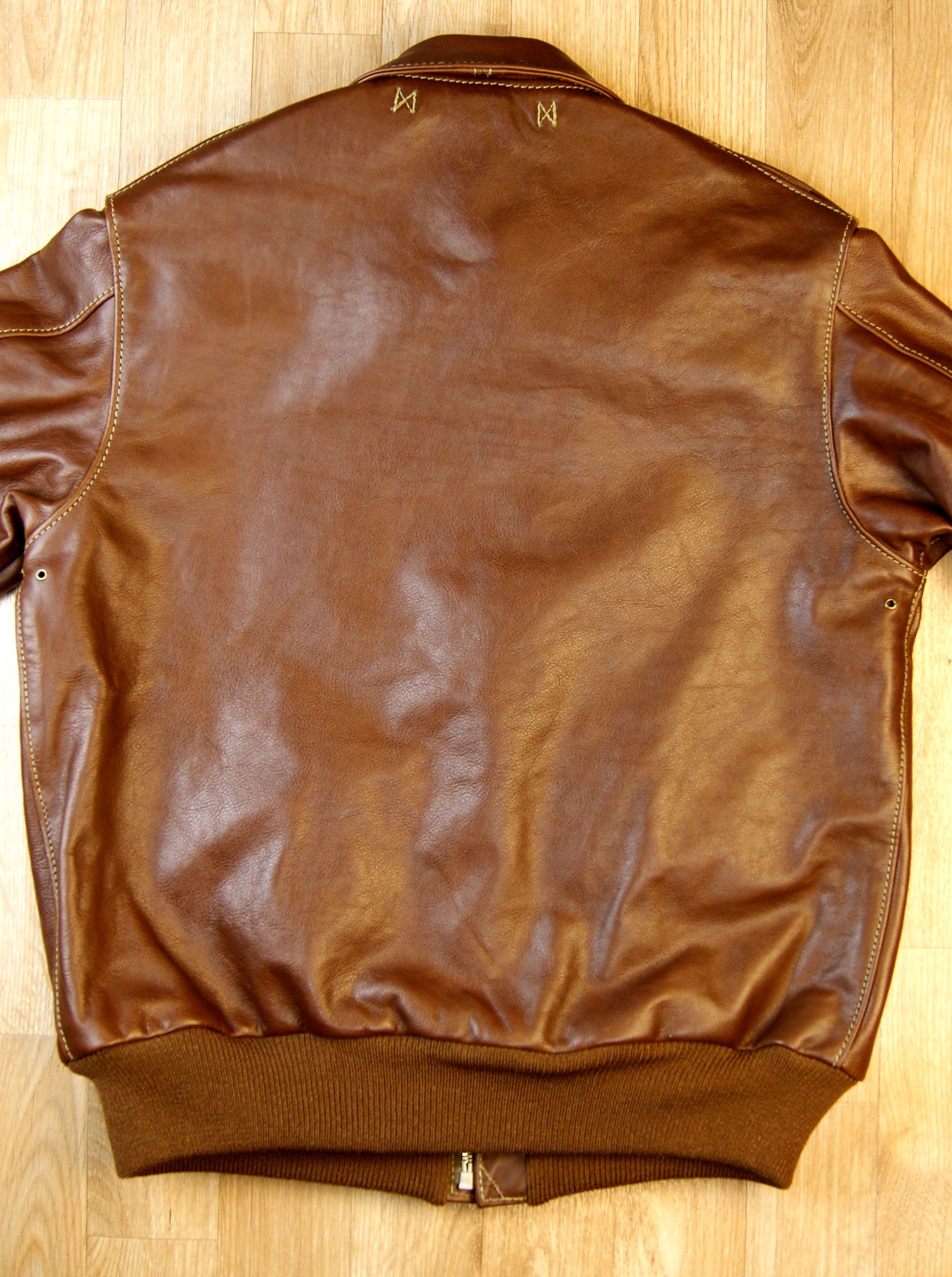 Aero A-2 Military Flight Jacket, size 42, Russet Vicenza Horsehide