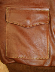Aero A-2 Military Flight Jacket, size 38, Russet Vicenza Horsehide