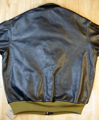 Aero A-2 Military Flight Jacket, size 48, Blackened Brown Vicenza Horsehide