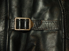 Used Aero 1950s Half Belt sz 40 Black Chromexcel Horsehide