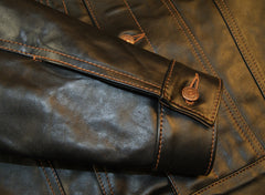 Aero 557XX Type 3 Jean Jacket, size 38, Blackened Brown Vicenza Horsehide
