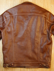 Aero 557XX Type 3 Jean Jacket, size 42, Russet Vicenza Horsehide
