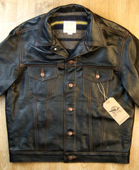 Aero 557XX Type 3 Jean Jacket, size 44, Blackened Brown Vicenza Horsehide