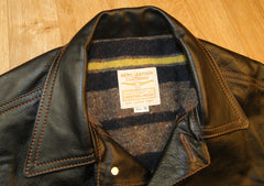 Aero 557XX Type 3 Jean Jacket, size 40, Blackened Brown Vicenza Horsehide