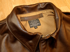 Aero A-2 Military Flight Jacket, size 48, Seal Vicenza Horsehide