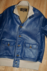 Aero A-1 Military Flight Jacket, size 40, Blue Napa Cowhide