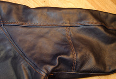 Aero A-1 Military Flight Jacket, size 46, Navy Blue Vicenza Horsehide
