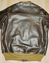 Aero A-1 Military Flight Jacket, size 42, Dark Seal Vicenza Horsehide