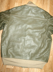 Aero A-1 Military Flight Jacket, size 40, Olive Vicenza Horsehide