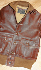 Aero A-1 Military Flight Jacket, size 32, Russet Jerky Horsehide