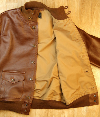 Aero A-1 Military Flight Jacket, size 42, Russet Vicenza Horsehide