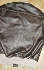 "Used Aero A-1 Military Flight Jacket 38 Seal ""Jerky"" FQHH Horsehide"