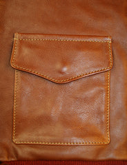 Aero A-2 Military Flight Jacket, size 48, Russet Vicenza Horsehide