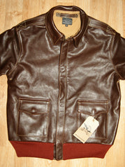 Aero A-2 Military Flight Jacket, size 40, Seal Vicenza Horsehide