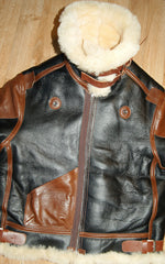 Aero B-3 Military Flight Jacket, size 42, Seal with Russet Vicenza Horsehide trim