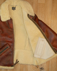 Aero B-6 Military Flight Jacket, size 40, Redskin Brown with Dark Seal Vicenza Horsehide Trim