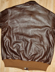 Aero A-2 Military Flight Jacket, size 44, Seal Vicenza Horsehide