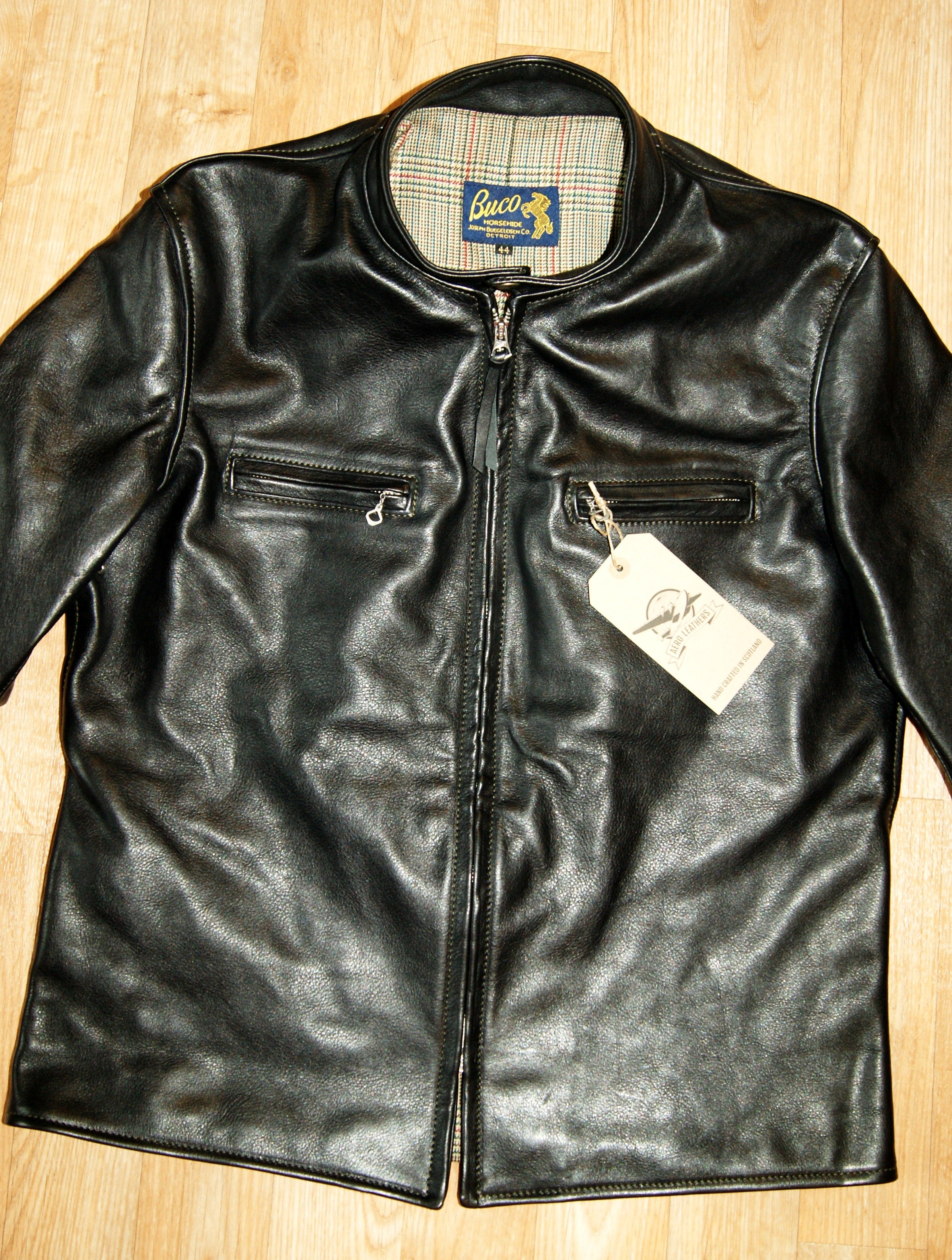 Aero Board Racer, size 44, Black Vicenza Horsehide