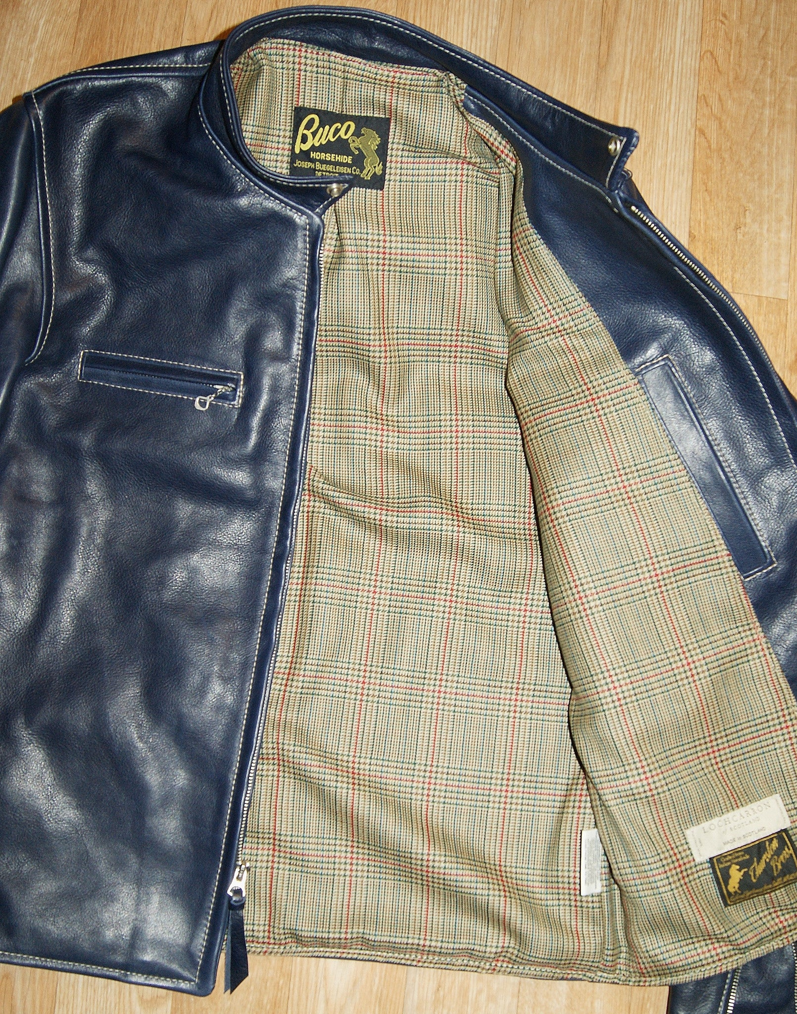 Aero Board Racer, size 42, Navy Blue Vicenza Horsehide
