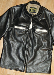Aero Board Racer, size 40, Two-Tone Black and Cream Vicenza Horsehide