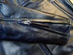 Aero Cafe' Racer, size 42, Midnight Blue CXL Horsehide