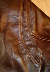 Aero Cafe' Racer, size 38, Brown Chromexcel FQHH Horsehide