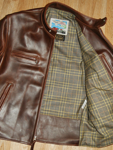 Aero Cafe' Racer, size 42, Brown CXL Steerhide