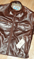 Aero Cafe' Racer, size 44, Brown CXL Steerhide