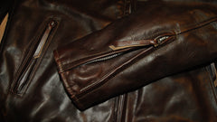 Aero Cafe' Racer, size 42, Brown Tumbled FQHH Horsehide
