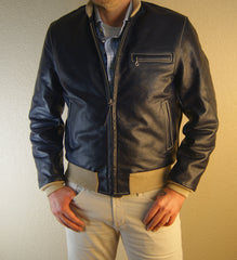 Aero College Jacket, size 38, Blue Vicenza Horsehide