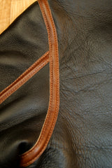 Aero D-1 Military Flight Jacket, size 42, Seal Brown with Russet Vicenza Horsehide Trim