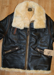 Aero D-1 Military Flight Jacket, size 40, Seal Brown with Dark Seal Vicenza Horsehide Trim