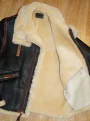 Aero Two-Tone D-1 Military Flight Jacket, size 38, Seal Brown with Russet Vicenza Horsehide Trim