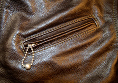 Aero Half Belt Deluxe, size 40 (fits like size 42), Dark Seal Vicenza Horsehide