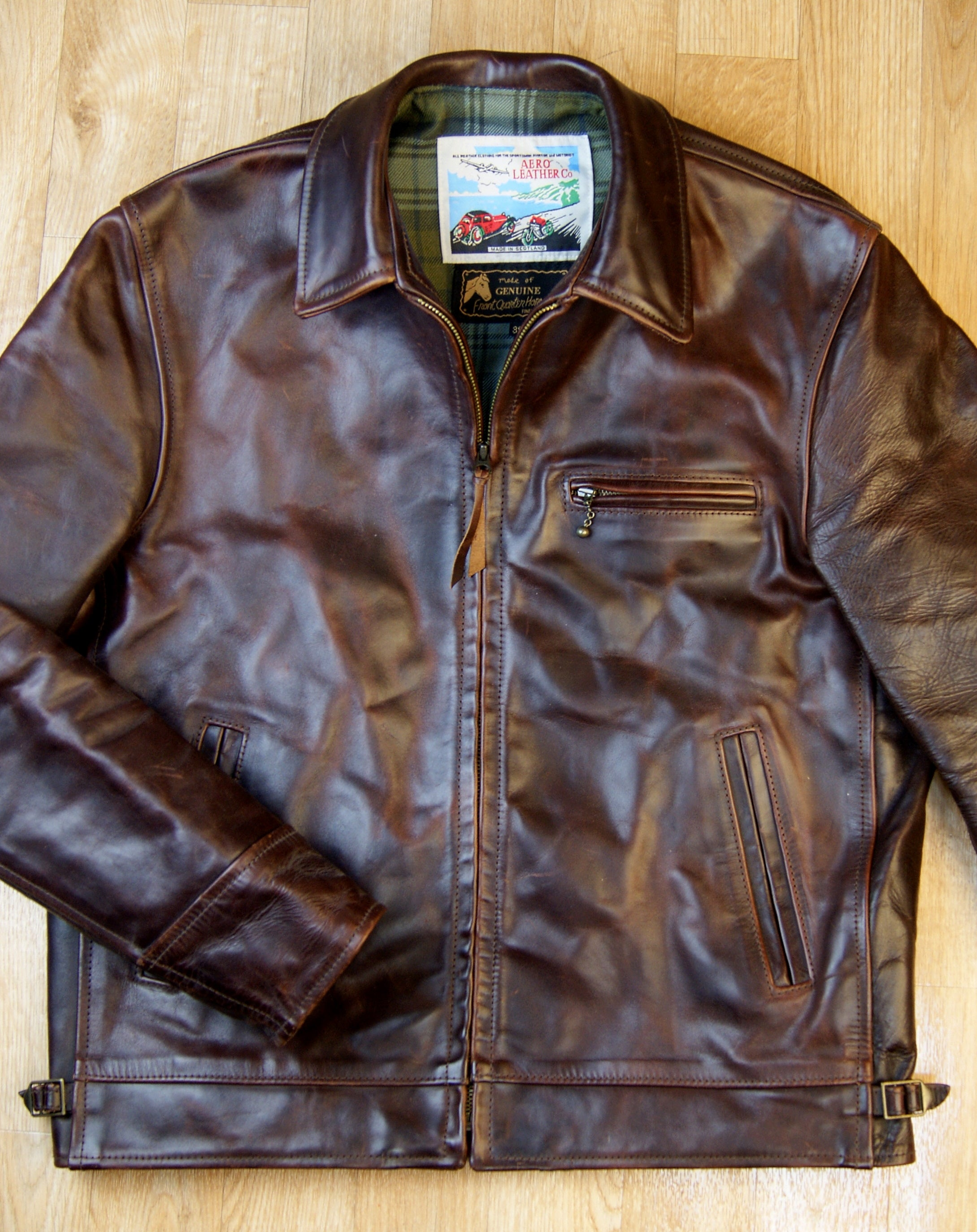 Used Aero Highwayman, sz 38, Brown Chromexcel Horsehide