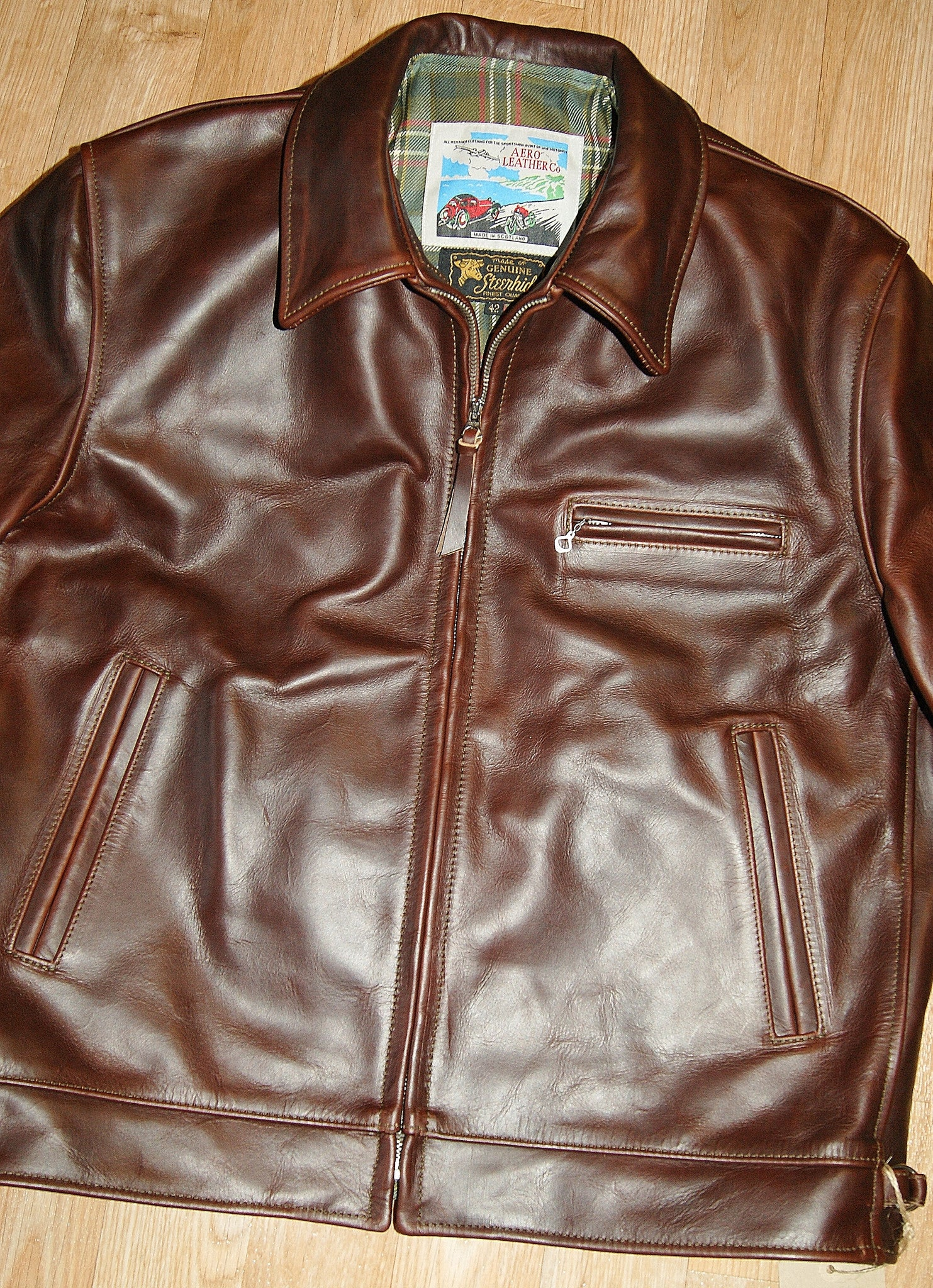 Aero Highwayman, sz 42, Brown Chromexcel Steerhide