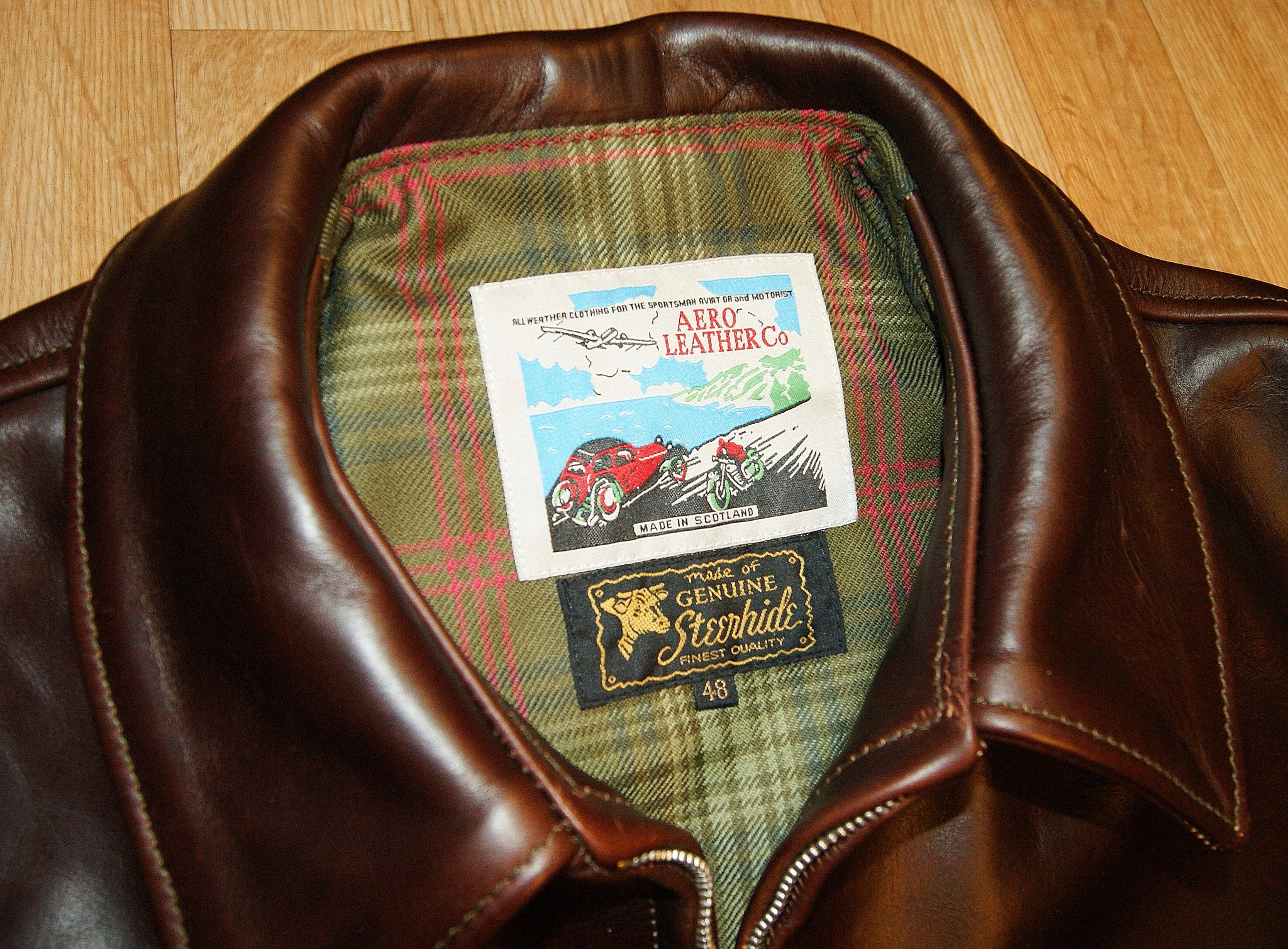 Aero Highwayman, sz 48, Brown Chromexcel Steerhide