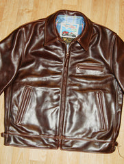 Aero Highwayman, sz 42 (fits like size 46), Brown Chromexcel Steerhide