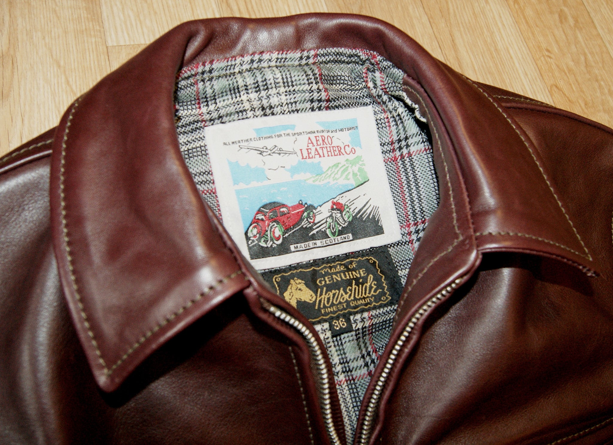 Aero Highwayman, sz 36 (fits like size 40), Cordovan Vicenza Horsehide