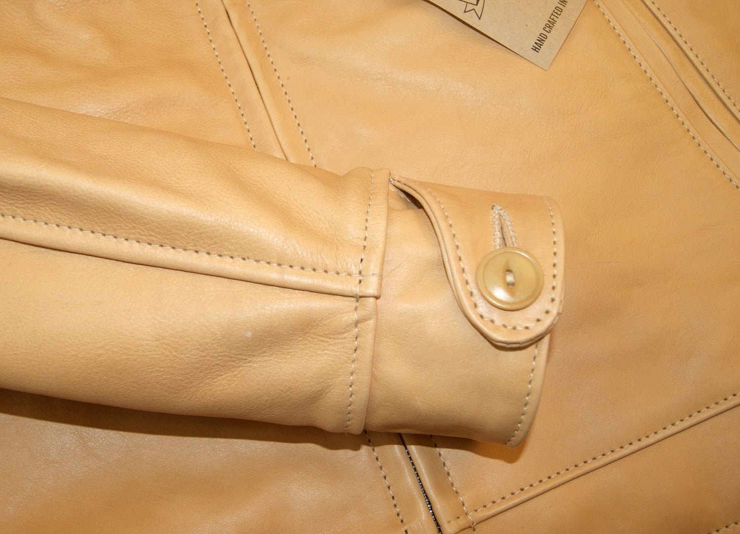 Aero Highwayman, sz 40 (fits like 44), Natural Vicenza Horsehide
