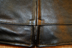 Aero Premier Highwayman, size 42, Blackened Brown Vicenza Horsehide