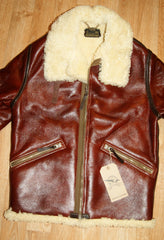 Aero Two-Tone D-1 Military Flight Jacket, size 38, Redskin with Dark Seal Vicenza Horsehide Trim