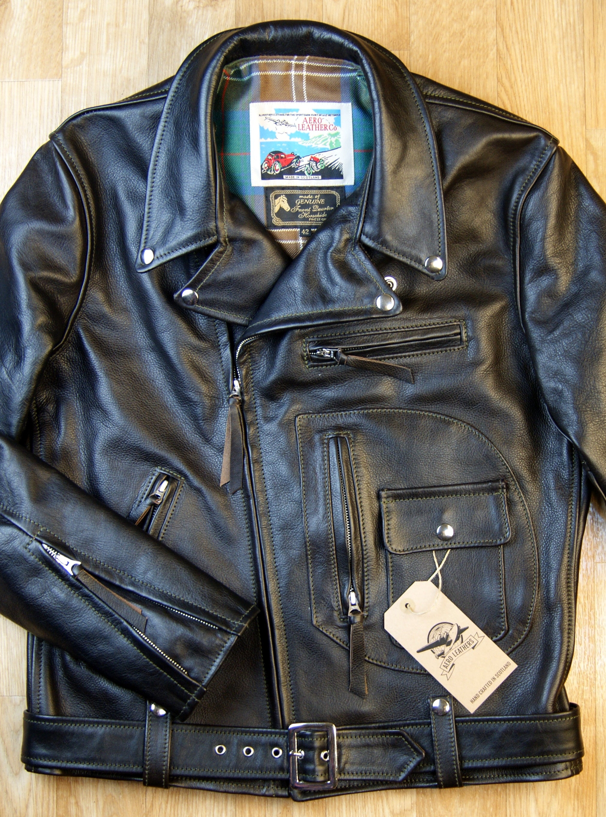 Aero D-Pocket Ridley, size 42, Blackened Brown Vicenza Horsehide