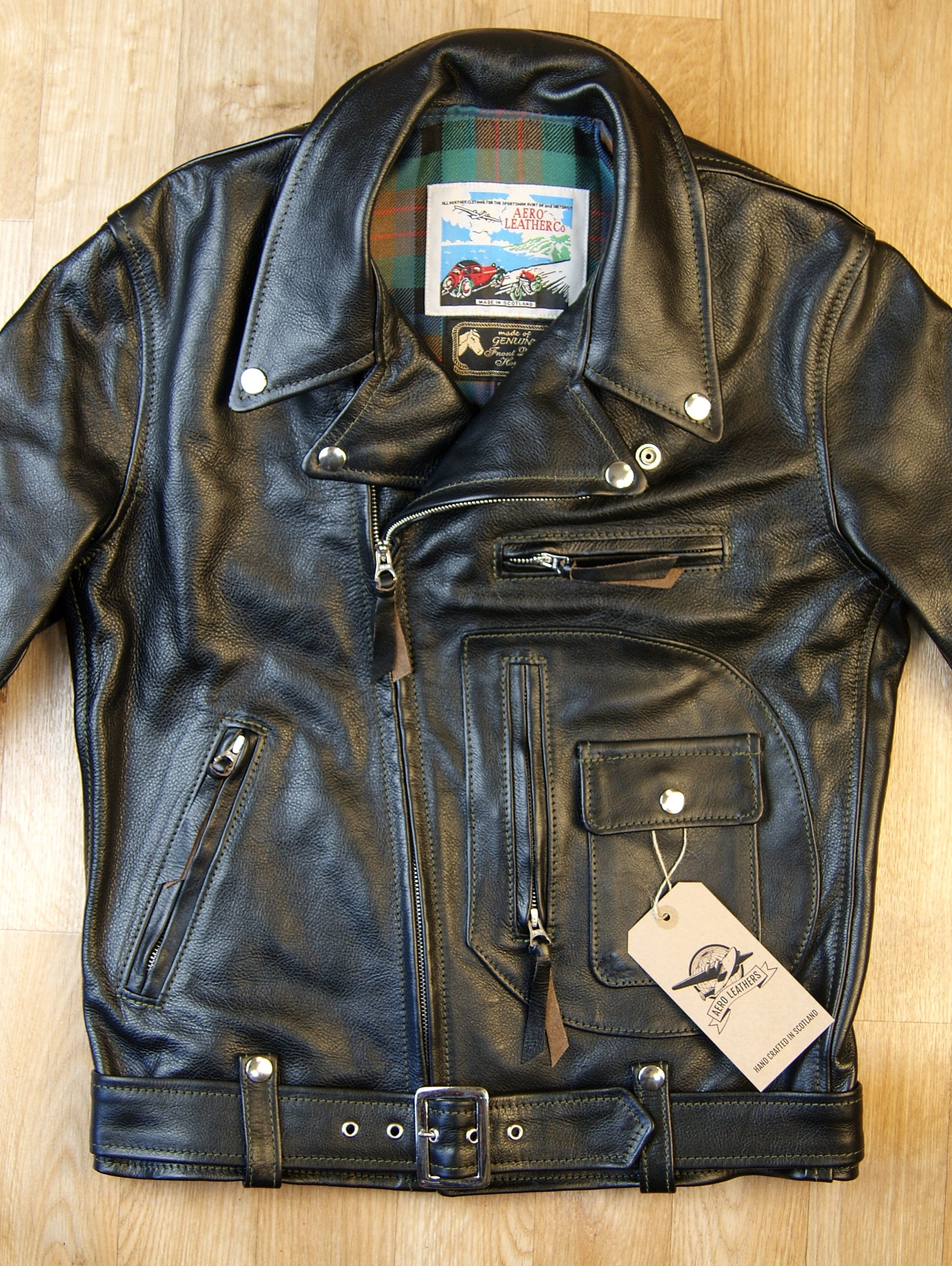 Aero D-Pocket Ridley, size 38, Blackened Brown Vicenza Horsehide