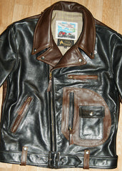 Aero Two-Tone D-Pocket Ridley, size 40, Black and Seal Vicenza Horsehide
