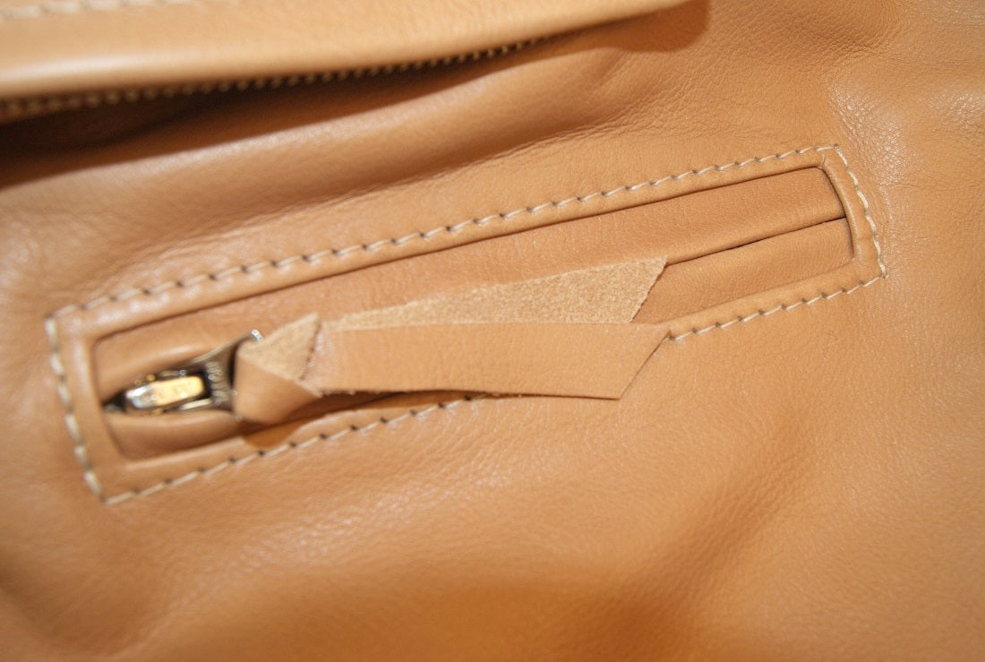 Aero Three-Pocket Ridley, size 40, Natural Vicenza Horsehide